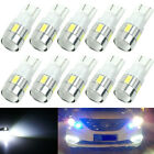 10x T10 Car W5W 5630 White 6SMD LED Wedge Side Light Bulb Lamp 168 194 192 158