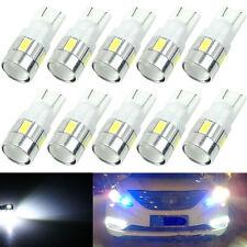 10 x T10 W5W 5630 6 SMD LED SOSTITUZIONE AUTO Cuneo Lampadina laterale Lampada