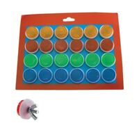 FENIX BlKE BicycIe Mini Round RefIector 24PCS Red Orange, Green, Blue