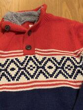 Gap Kids Red Fair Isle Sweater Boys Size Medium 8