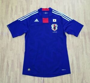 Japan Adidas ClimaCool Blue Soccer Football Jersey ~ Men's Medium M ~ Blue