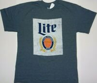 Miller Lite Beer Big Logo Tee Shirt Light Night New