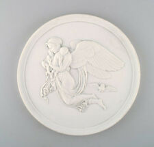 Antique Bing and Grondahl relief by Thorvaldsen, 'night', biscuit. Late 1800s