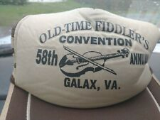 Vintage 3 Stripe Old Time Fiddler's Convention 58th Annual Galax, Va Hat/Cap