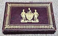 1930's Worshipful Company of Playing Cards Leather Presentation Case