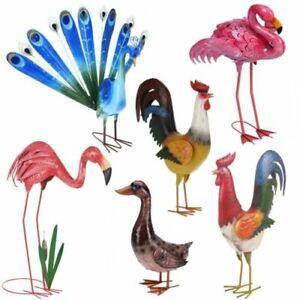 Decorative Birds Outdoor Garden Weather Resistant Metal Pond Lawn Ornament Decor