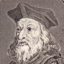 Portrait XVIIIe Jérôme de Prague Jeroným Pražský Hieronymus von Prag Hussites