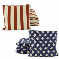 Weather Resistant Cornhole Bean Bags Set of 8 (Stars & Stripes)