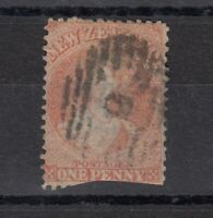New Zealand QV 1864 1d Chalon Vermillion SG110 Used J6180