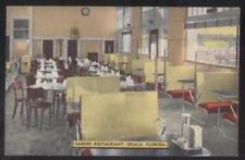 Postcard OCALA Florida/FL  Sarres Restaurant Interior 1930's