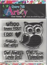 Dare 2B Artzy Owl Whoo Loves You Clear Cling Rubber Stamps