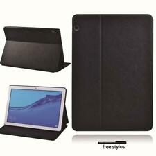 Black Leather Stand Folio Case Cover For Huawei MediaPad T3 8 10 / T5 10 Tablet