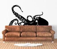 Giant Squid Wall Art Decal Sticker Vinyl Transfer Decor Mural Octopus Beach Sea