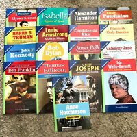 Pearson 17 myWorld Social Studies Biography Leveled Readers Grade 5 BELOW LEVEL