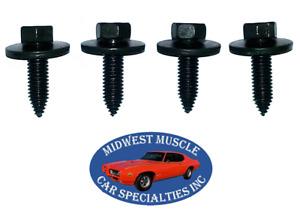 Ford Lincoln Mercury Body Fender Frame Factory Correct 3/8-16 Bolt Bolts 4pcs I
