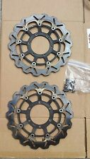 05 06 Honda CBR 600RR BRAKING WAVE Front Brake Disc Rotors Straight SET W BOLTS