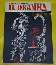 IL DRAMMA 1954 n. 199 - Copertina Emanuele Luzzati - Opere: vedi inserzione