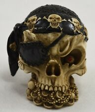 Highly Detailed RARE Skull Statue/Ornament PIRATE DESIGN Occult/Supernatural