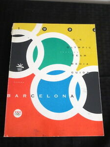 1992 Barcelona Olympics USA Media Guide RARE!!!! Fair condition