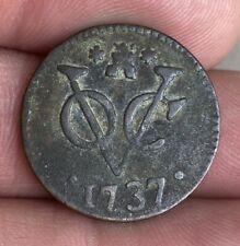 Netherlands - Dutch East Indies - Dutch copper coin - Voc duit Zeeland 1737
