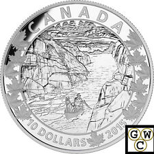 2015 Exquisite Ending - Canoe Across Canada Proof $10 Silver Coin .9999(17396)NT