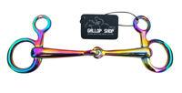 BAUCHER SNAFFLE HANGING CHEEK  / Rainbow /Multi Horse Bit Horse tack