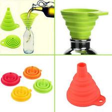 Faltbarer Silikon Trichter Ausgangs Flüssigkeitsspender Küchenwerkzeug Praktisch