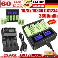 8/16x 16340 CR123A Akku Batterie 2800mAh 3,7V + USB Ladegerät für Arlo Kamera DE