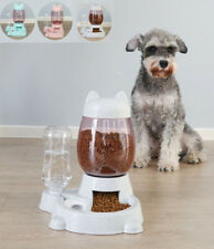Automatic Dog Cat Pet Feeder Large Food Dispenser&Water Fountain Drink Bowl Dish