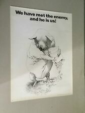 "1970 Black and White Political Pig ""We have met the enemy"" Pangolin Corporation"