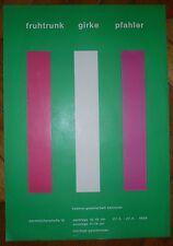 Fruhtrunk Girke Pfahler affiche offset 1969 Hannover art abstrait