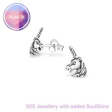 Sterling silver 925 womens unicorn ear studs - gift packaged!