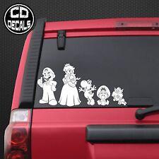 Super Mario Stick Figure Family Car Decals Stickers - Nintendo Switch Odyssey