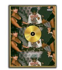 Playboi Carti Poster GOLD/PLATINIUM CD, gerahmtes Poster HipHop Rap WallArt
