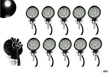 Set Of 10x Waterproof 27w 9 Led Spot Round Mini Work Lights Lamp Offroad Tractor