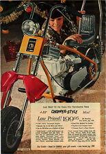 1970 ADVERT Galaxie Chopper Style The Rail Mini Bike Huffy Bicycle Dragster King