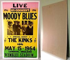 "MOODY BLUES 1964 Live in Concert  Nostalgia Heavy Stock 22""x14""  Poster-NEW"
