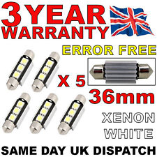 5 X 36MM 3 SMD LED 239 272 C5W CANBUS NO ERROR INTERIOR LIGHT FESTOON BULB WHITE