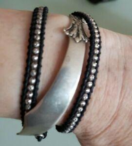 M. Cohen Handmade Designs wrap sterling silver sword design Bracelet