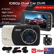 10.2cm HD 1080P coche DVR Cámara Lentes Doble Grabadora De Video sensor G