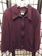Women's Sag Harbor Purple Zip Up Jacket Wool Size 14  B3