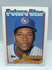 New listing 1989 - TOPPS - #343 - Gary Sheffield Rookie Card - RC - Milwaukee Brewers