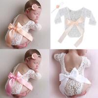 Newborn Infant Baby Girls Floral Lace Romper Bodysuit Jumpsuit Clothes Outfits