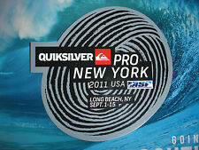 QUIKSILVER PRO-NEW YORK USA 2011 ASSOCIATION OF SURFING PROFESSIONALS STICKER