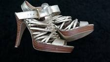 Dorothy Perkins High Heel Platform Party Shoes in Gold  Size 4 Pre owned