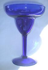 """Set of 6 Pier 1 Cobalt Blue 6"""" Tall Glass Margarita Glasses BRAND NEW"""