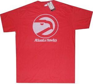 Atlanta Hawks Retro Logo Majestic Throwback T Shirt New Tags