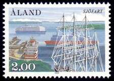 Aland 1984 50TH ANNIVERSARY OF SOCIETY OF SHIPOWNERS, Ships in Harbour MNH / UNM