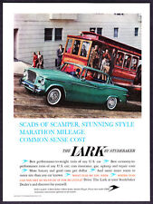 1959 Studebaker Lark 2-door Sedan & S.F. Cable Car photo vintage promo print ad