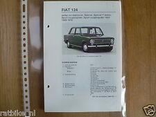 F37-FIAT 124 SEDAN EN STATIONCAR, SPECIAL, SPECIAL T SE
